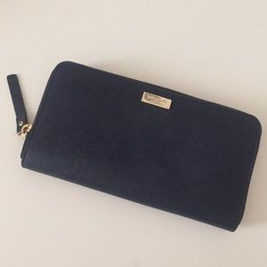 Kate Spade Navy Zip Long Wallet